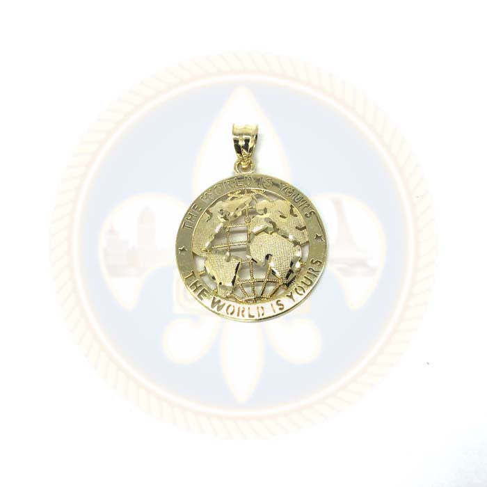 Pendentif The Wolrd Is Yours Globe or Jaune 10K XS MPG-371 - OR QUEBEC