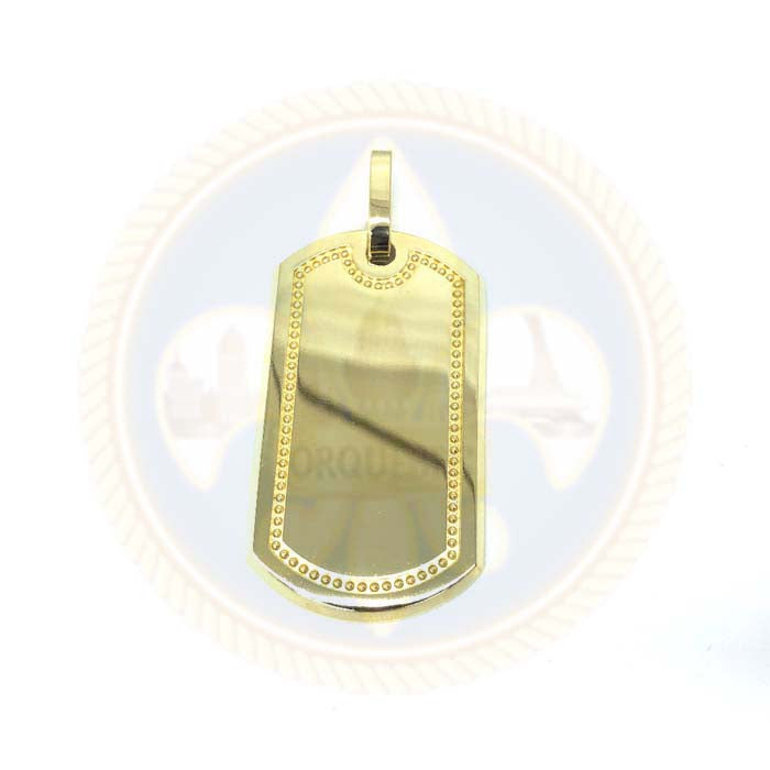 10K Dog Tag Pendant MPG-387 - OR QUEBEC