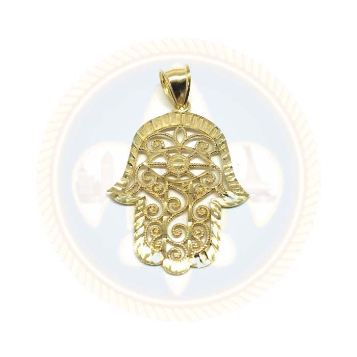 Mains De Fatima 10K or Jaune Pendentif Homme L MPG-412 - OR QUEBEC