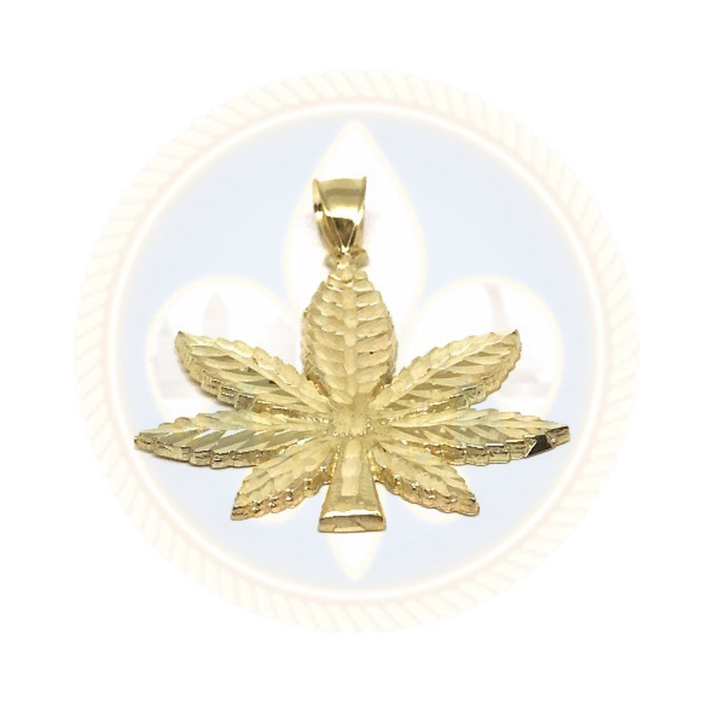 10K Or Jaune Marijuanna Pendentif MWG_002 - OR QUEBEC