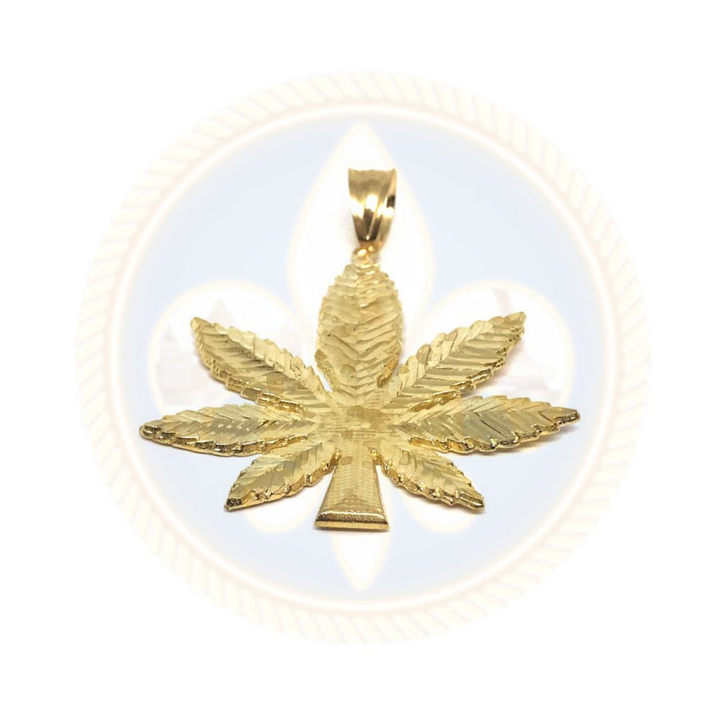 10K Or Jaune Marijuanna Pendentif MWG_004 - OR QUEBEC