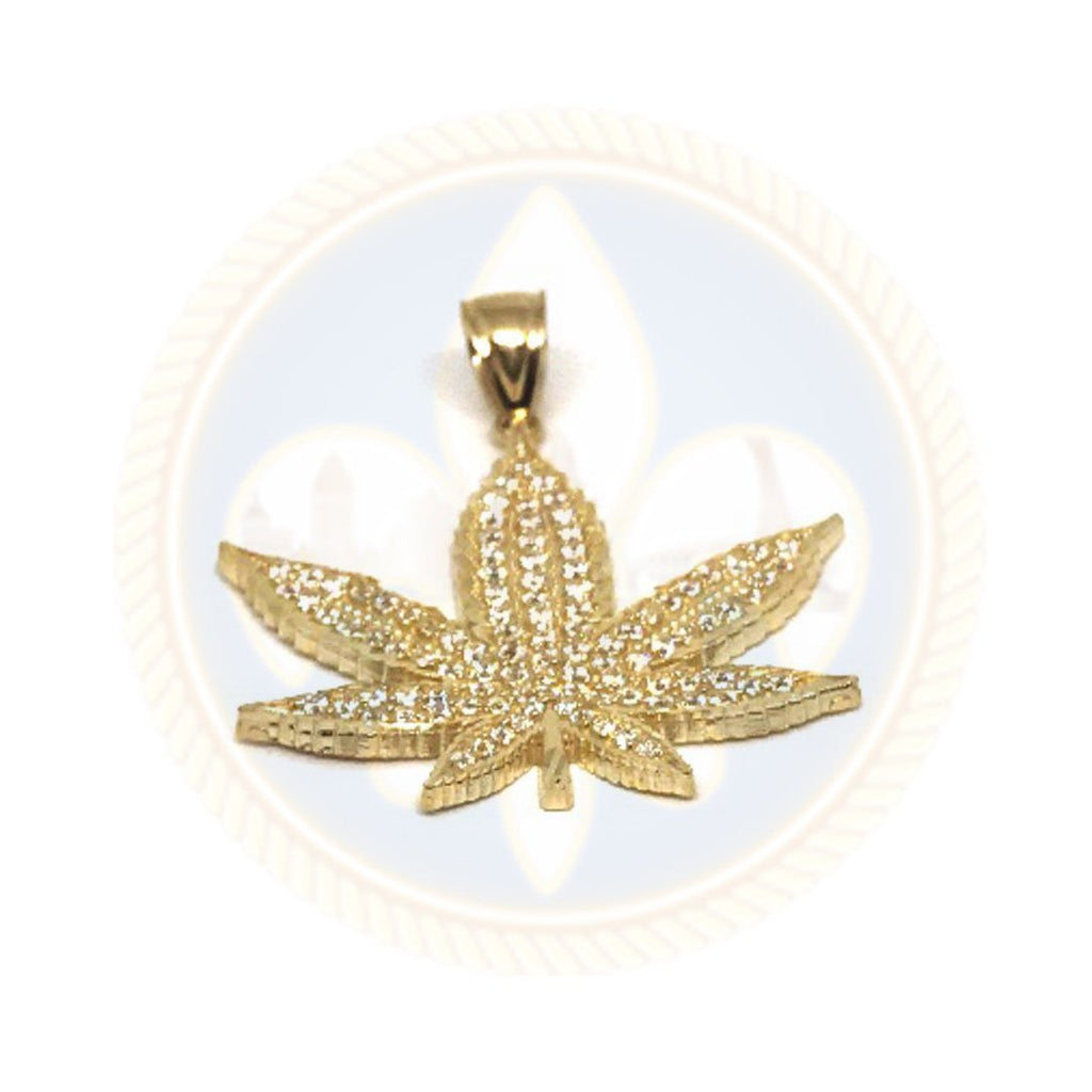 10K Or Jaune Marijuanna Pendentif MWG_005 - OR QUEBEC
