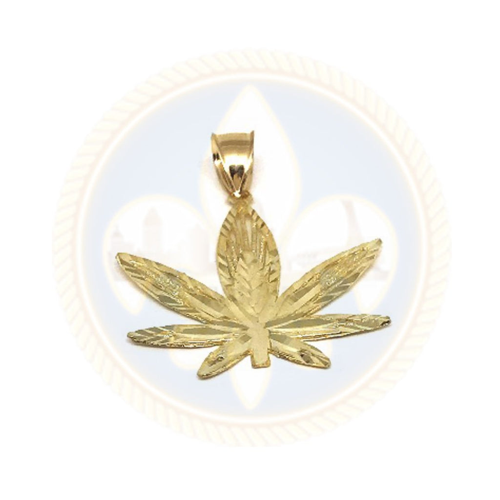 10K Or Jaune Marijuanna Pendentif MWG_007 - OR QUEBEC