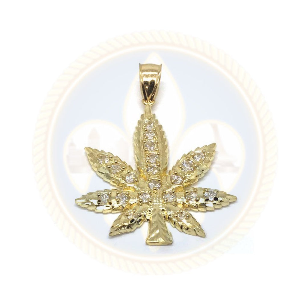 10K Or Jaune Marijuanna Pendentif MWG_016 - OR QUEBEC