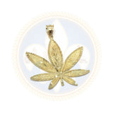 10K Or Jaune Marijuanna Pendentif MWG_018 - OR QUEBEC