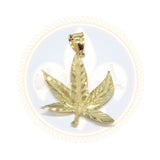 10K Or Jaune Marijuanna Pendentif MWG_025 - OR QUEBEC