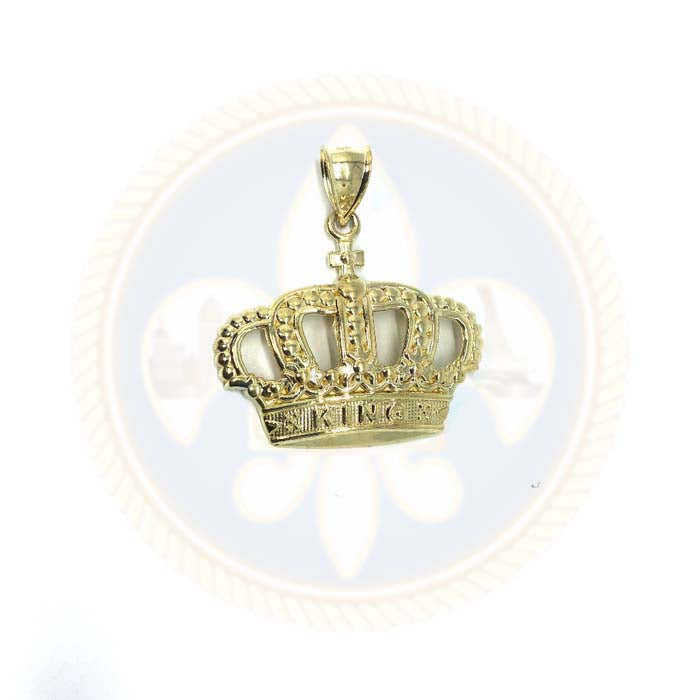 Pendentif en or 10K King Couronne RGP-004 - OR QUEBEC
