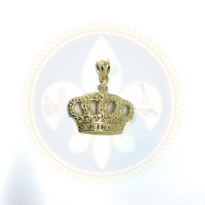 Pendentif en or 10K King Couronne RGP-005 - OR QUEBEC