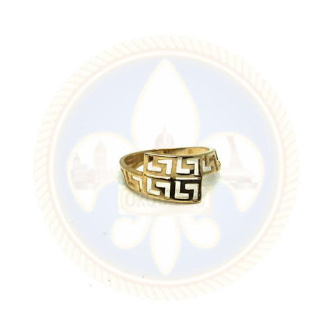 10k Bague Versace  wavy - OR QUEBEC