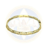10k 5MM 7.5IN Versace Bracelet WBG-038 - OR QUEBEC