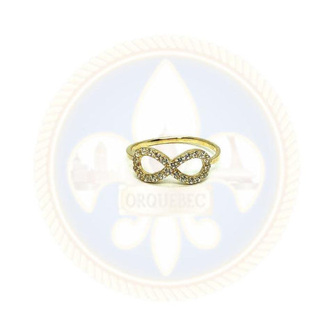 10K Bague Infinity WGR-047 - OR QUEBEC