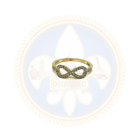 10K Bague Infinity WGR-048 - OR QUEBEC