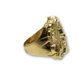 10K Bague Nugget Homme en Or jaune MGR_101 - OR QUEBEC