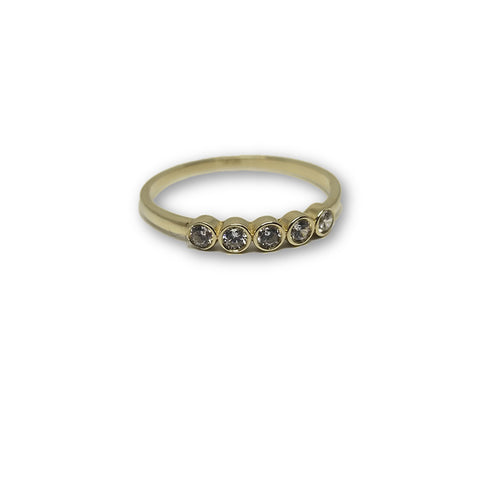 10K Or Jaune Bague Femme WGR-164 - OR QUEBEC