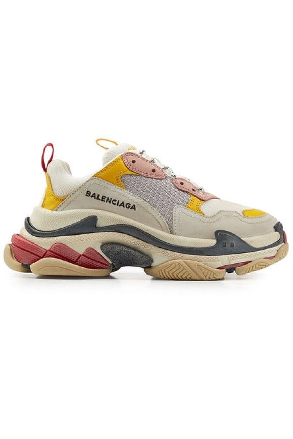 Balenciaga Triple S Sneaker - Multicolour (Yellow/Pink)
