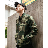 Casual Bomber Camo Windproof Jacket