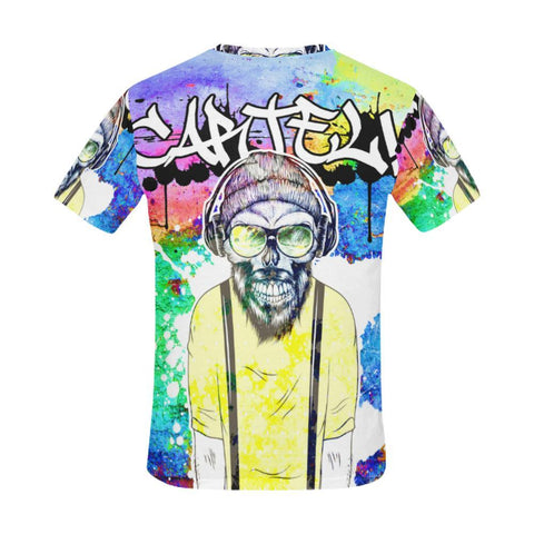 All Over Print T-Shirt For Men - Cartel Hipster Tee