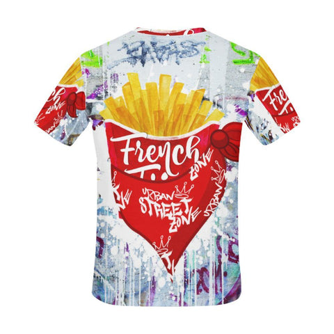 All Over Print T-Shirt For Men - French Fries Tee