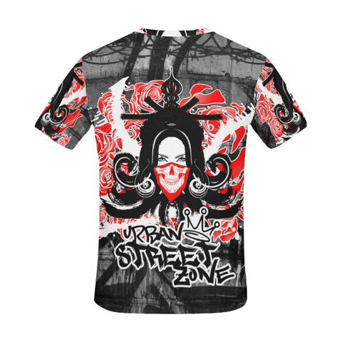 All Over Print T-Shirt For Men - Geisha Drift Tee