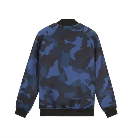 Casual Blue Camouflage Jacket