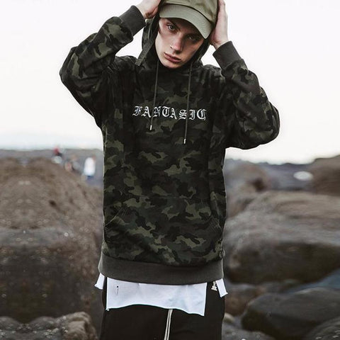 Casual Hiphop Camouflage Hoodies Sweatshirt