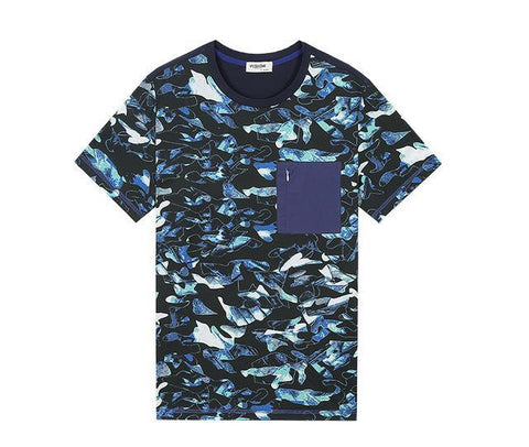 Casual Men's Royal Blue T-shirt