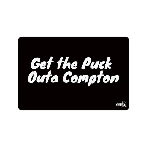 "Doormat 23.6"" X 15.7"" - Get The Puck Outa Compton Door Mat"