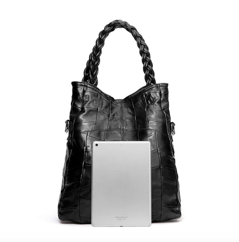 ESUFEIR Patch Shoulder Handbag