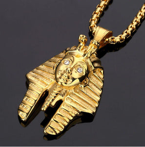 Gold Egyptian Pharaoh Rhinstone Necklace