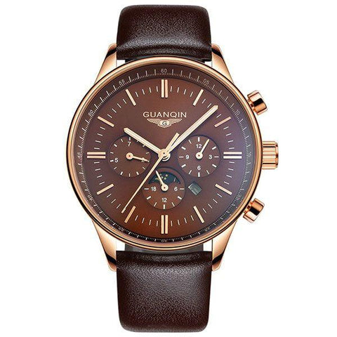 GUANQIN Mens Quartz Big Dial Watch