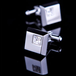 Jewelry - Blue Square Stone Cufflink