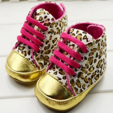Kids - Baby Crib Leopard Shoes