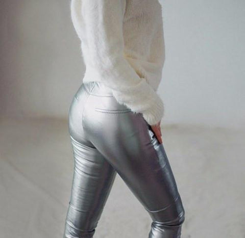 Leather - Funky PU Leather Skinny Pants