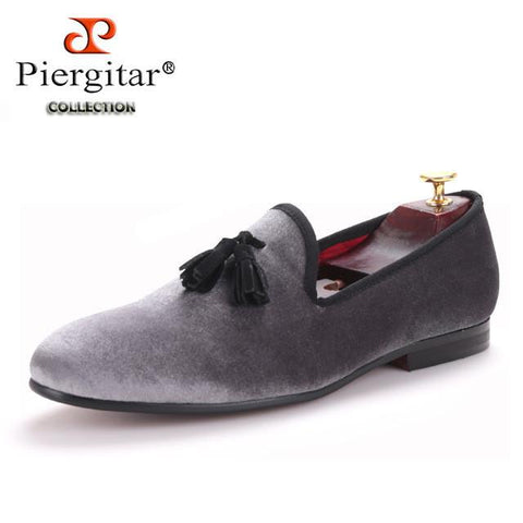 Loafers - Gun Metal Tassel Loafers