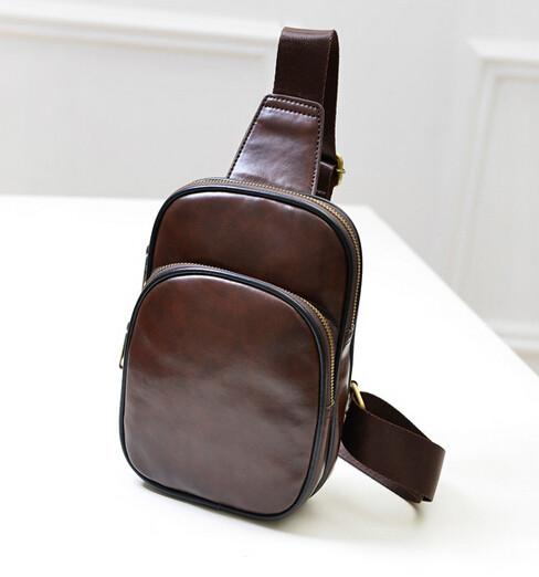 Shoulder Bag - Mens Vintage Chest Strap Bag