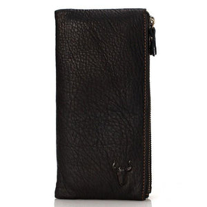 Wallet - Genuine Leather Zipper Organizer Wallet
