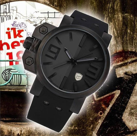 Watch - Big Face Silicone Strap Sports Watch