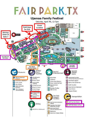 Ujamaa Family Festival Fair Park Map