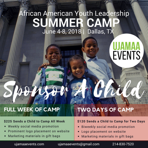 African American Youth Leadership Summer Camp - SPONSOR A CHILD