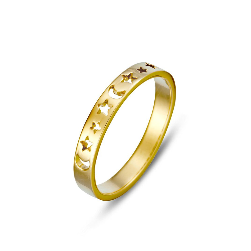 Gold Star Phase Ring