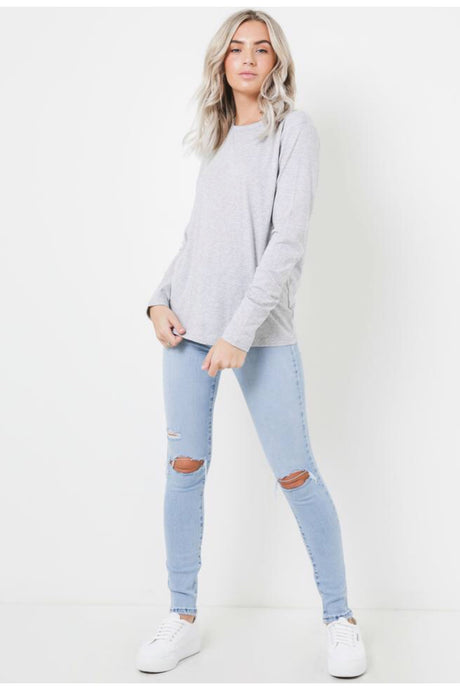 Ava Long Sleeve - Grey