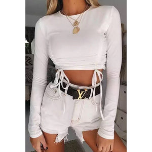 Jessie Long Sleeve Top White