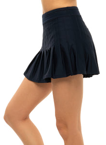 Long Retro Pleated Skirt