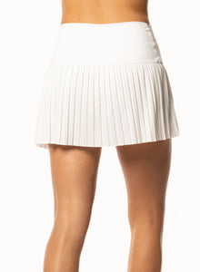 Hi-Chop Pleated Skirt