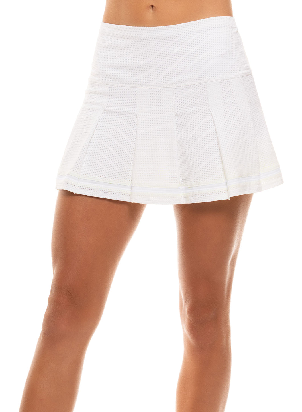 Long Micro Tuck Pleat Skirt