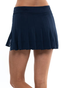 High-Low Pleated Skirt