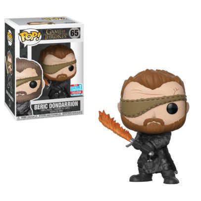 Funko POP! Game of Thrones - Beric Dondarrion with Flame Sword Vinyl Figure #65 2018 Fall Convention Exclusive (NOT 100% MINT)