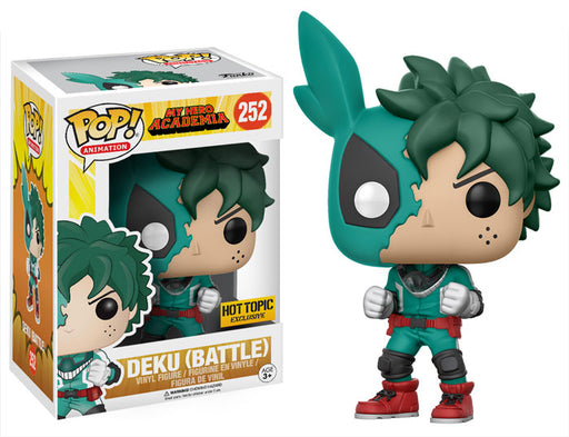 Funko POP! My Hero Academia - Deku (Battle) Vinyl Figure #252 NO STICKER (NOT 100% MINT)