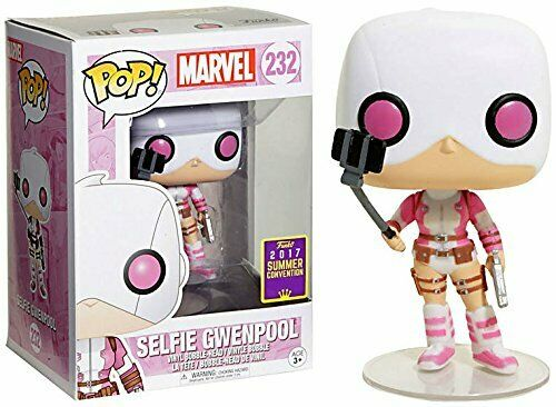 Funko POP! Marvel - Selfie Gwenpool Vinyl Figure #232 2017 Summer Convention Exclusive (NOT 100% MINT)