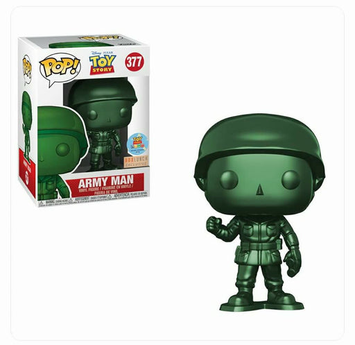 Funko POP! Toy Story - Army Man (Metallic) Vinyl Figure #377 Box Lunch Exclusive (NOT 100% MINT)